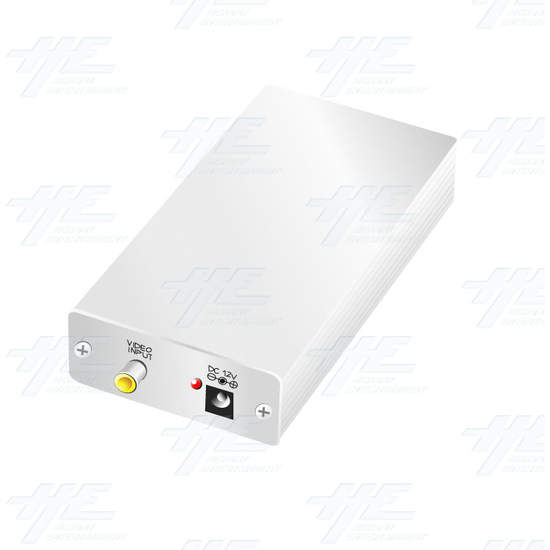 PAL or NTSC Video to PAL or NTSC Video Digital Converter (12v Car Model) - Angle View