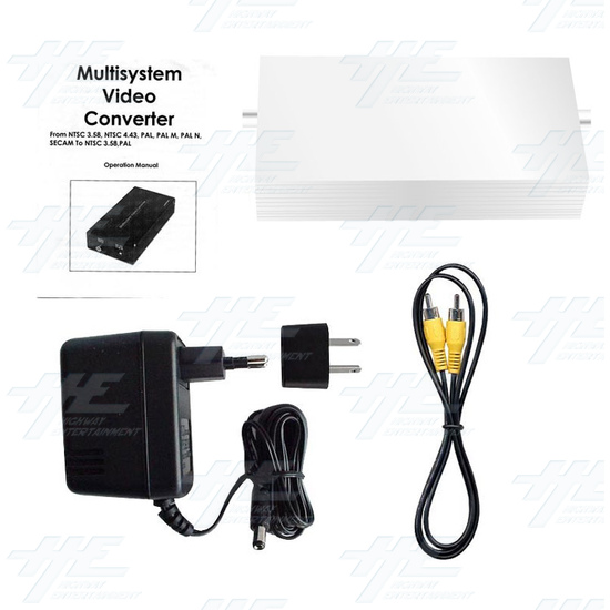 PAL or NTSC Video to PAL or NTSC Video Digital Converter (12v Car Model) - Full Kit
