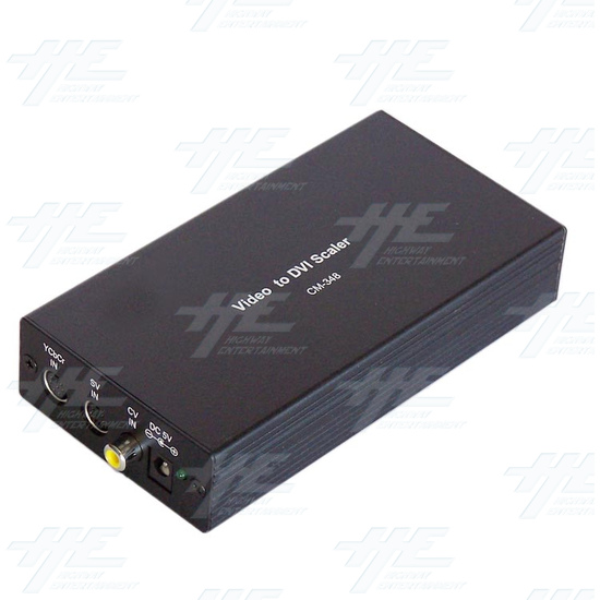 PAL or NTSC to DVI Converter - Angle View