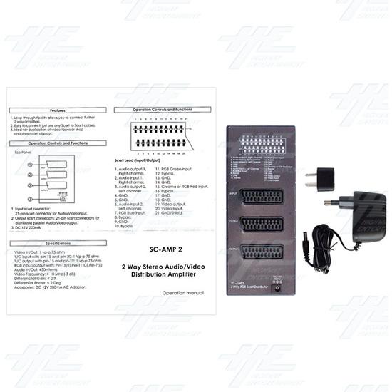Scart / RGB Video Distribution Amplifier (2 way) - Full Kit