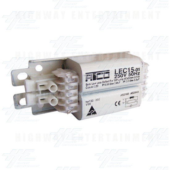 Fluorescent Ballast For 15W Lamp  - Angle View