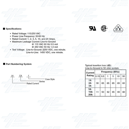 Noise EMI Filter - Product Specification