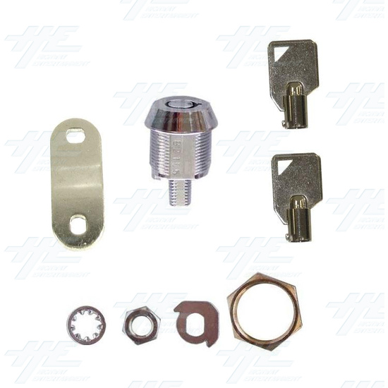 Cam Door Lock 15mm - With Latch (Made in Taiwan) - Full Kit
