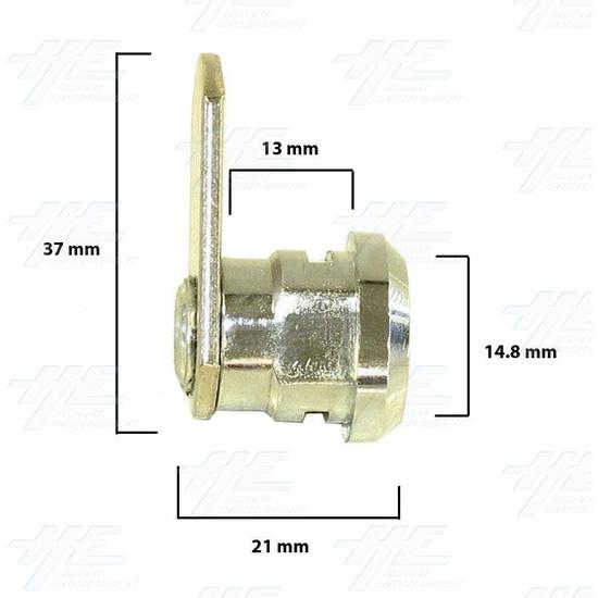 Chrome Flat Key Wafer Cam Lock - Key Series D52 - Diagram