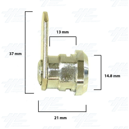 Chrome Flat Key Wafer Cam Lock - Key Series C13 - Diagram