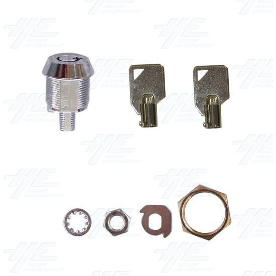 Cam Door Lock 15mm - Without Latch - Full Kit