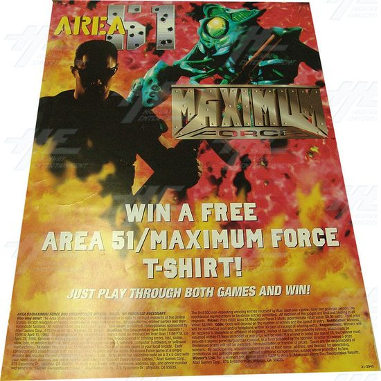 Area 51 and Maximum Force Promotional Poster - Screenshot