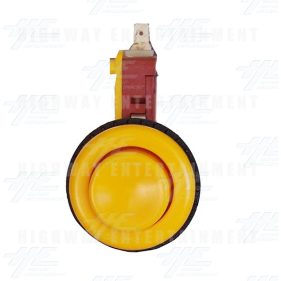 Pushbutton for Short Arcade Panel with Microswitch - Yellow - Front View
