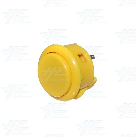 Sanwa Button OBSF-30 Yellow - Full View