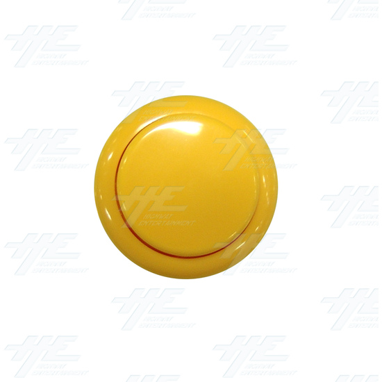 Sanwa Button OBSF-30 Yellow - Front View