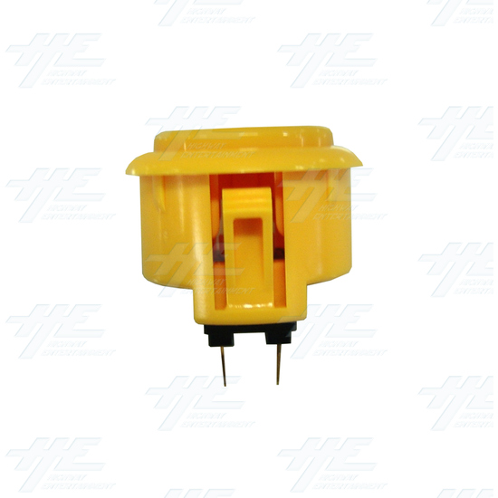 Sanwa Button OBSF-30 Yellow - Side View