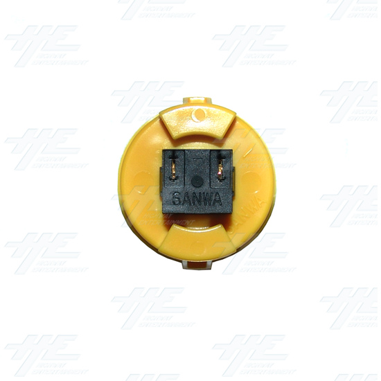 Sanwa Button OBSF-30 Yellow - Bottom View