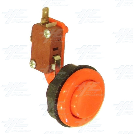Pushbutton for Short Arcade Panel with Microswitch - Orange - Full View