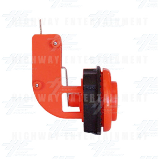 Pushbutton for Short Arcade Panel with Microswitch - Orange - Left View