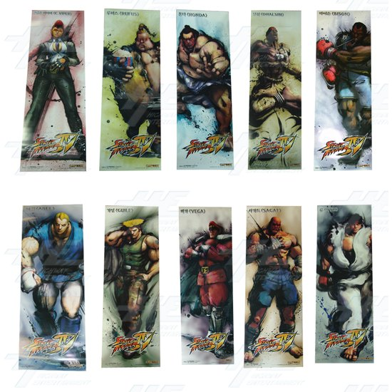 Street Fighter 4 Poster - Set of 10 - Full Set