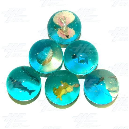 Bouncy Balls - Ocean Themed (45pcs) - Assorted Bouncy Balls