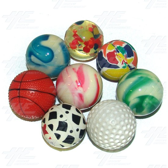 Bouncy Balls - Various Small Size (43pcs) - Assorted Bouncy Balls
