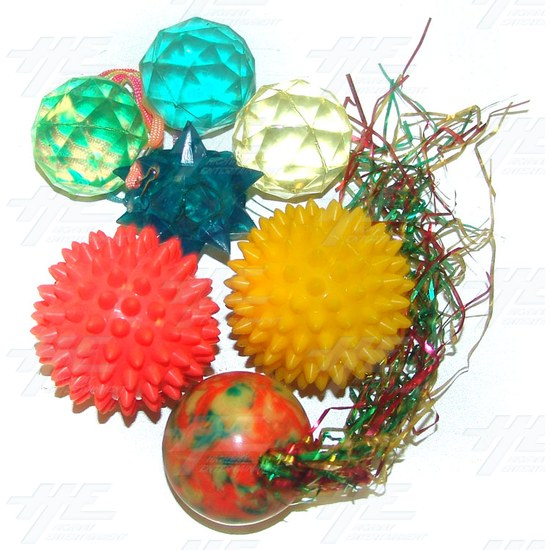 Bouncy Balls - Various Shapes (25pcs) - Assorted Bouncy Balls
