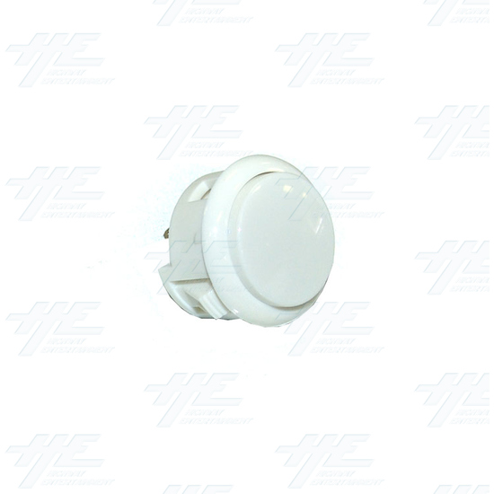 Arcade Pushbutton - White (China Made) - Full View