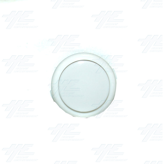 Arcade Pushbutton - White (China Made) - Top View