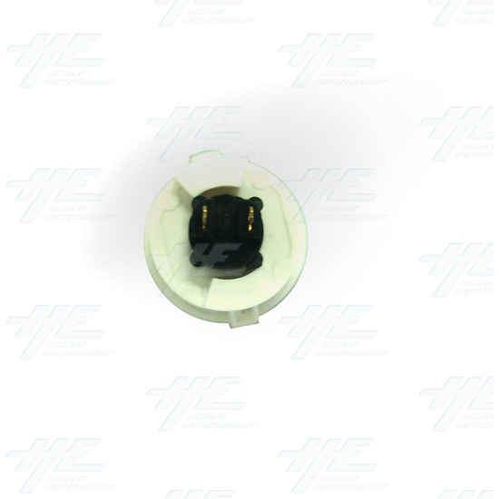 Arcade Pushbutton - White (China Made) - Bottom View