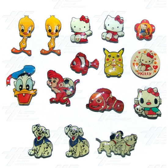 Magnets - Cartoon Characters (15pcs) - Sample