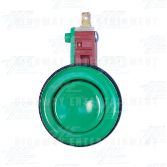 Pushbutton for Short Arcade Panel with Microswitch - Green - Front View