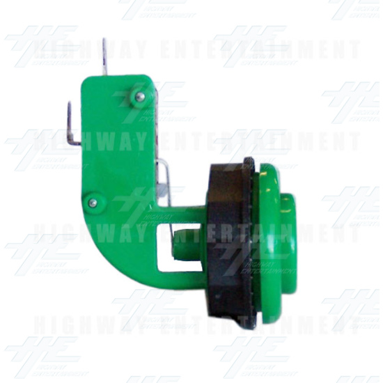 Pushbutton for Short Arcade Panel with Microswitch - Green - Left View
