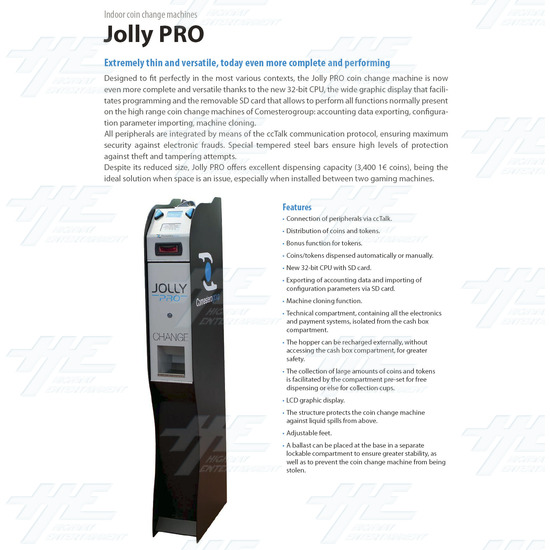 Change Machine With NV10 Bill Validator - Brochure Front