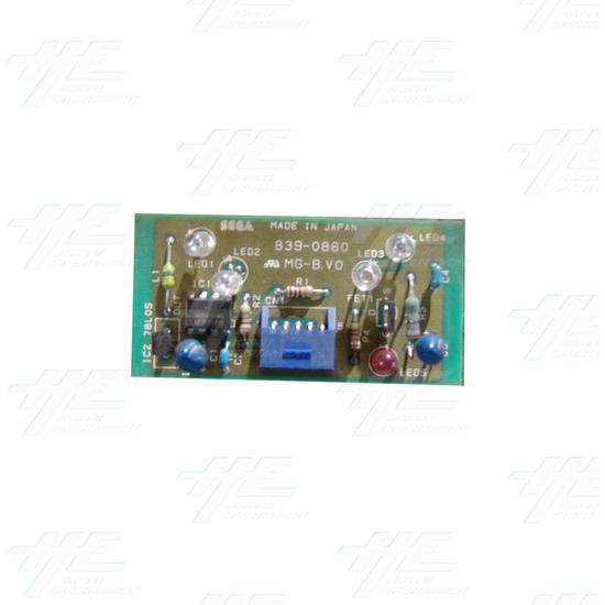 Sega Royal Ascot 2 DX - Infrared LED Board 2 - 839-0860 - Full View