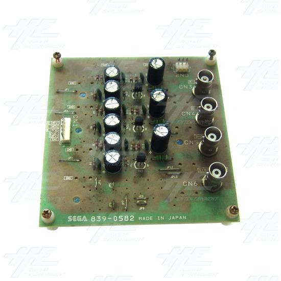 Sega Royal Ascot 2 DX - 839-0582 RGB Video Board - Top View