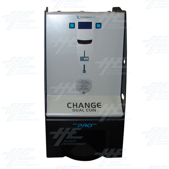 Dual Change Machine With NV9 Bill Validator - Front View