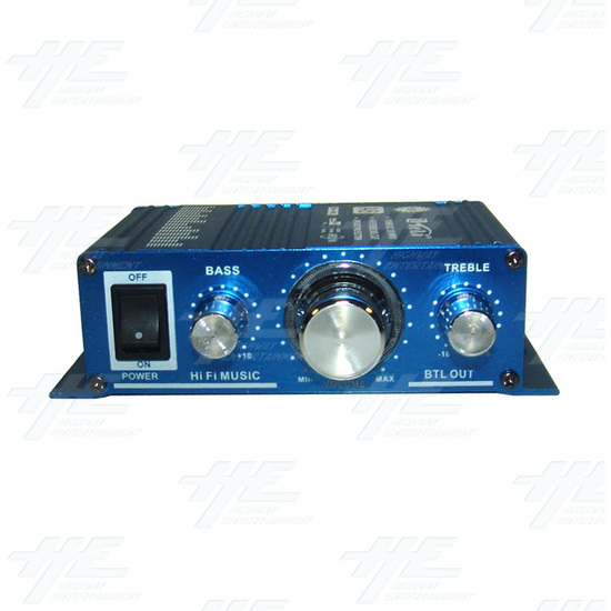 Arcade Sound Amplifier box with MP3 input - Front View