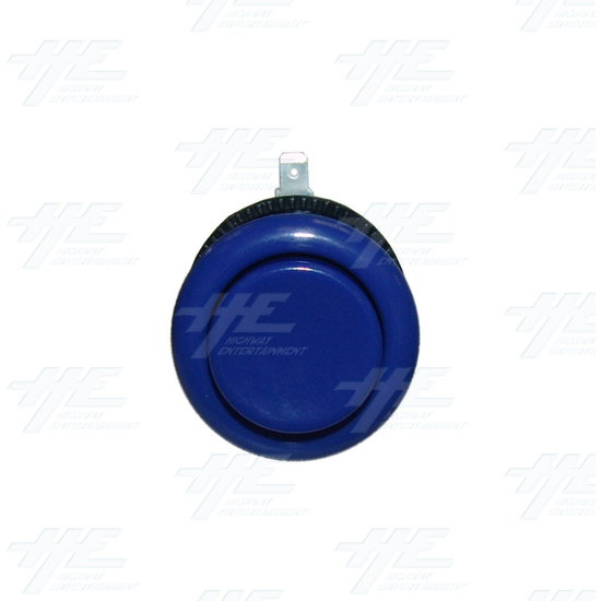 Arcade Button 35mm - Blue with microswitch - Top View