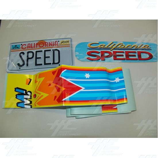 California Speed Sticker Set - California Speed Sticker Set