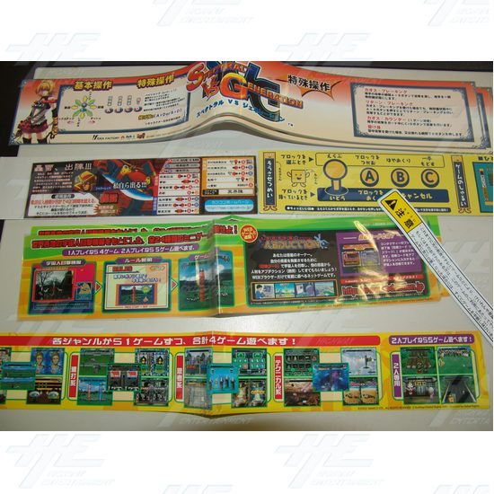 Assorted Set of Player Instructions (non-english) 4 - Assorted Set of Player Instructions (non-english) 4