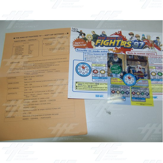 King of Fighters '97 Player Instructions Set - Spanish - King of Fighters '97 Player Instructions Set