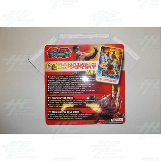 Tekken Tag Tournament 2 Banapassport Card Instruction Poster - Tekken Tag Tournament 2 Banapassport Card Instruction Poster Front View