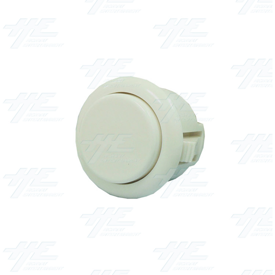Sanwa Push Button OBSF-24 White - Full View