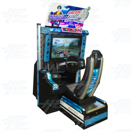 Metal Driving Arcade Cabinet Only (Initial D5 Style)  - Full View