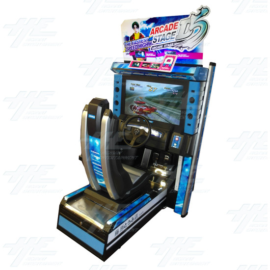 Metal Driving Arcade Cabinet Only (Initial D5 Style)  - Angle View
