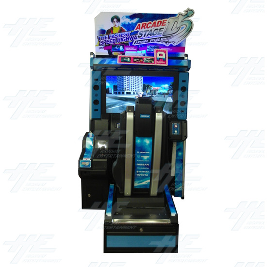 Metal Driving Arcade Cabinet Only (Initial D5 Style)  - Front View