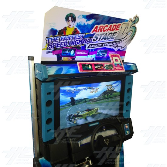 Metal Driving Arcade Cabinet Only (Initial D5 Style)  - Screen - Header