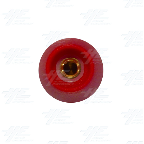 Baton Top for Arcade Joystick (Red) - Bottom View