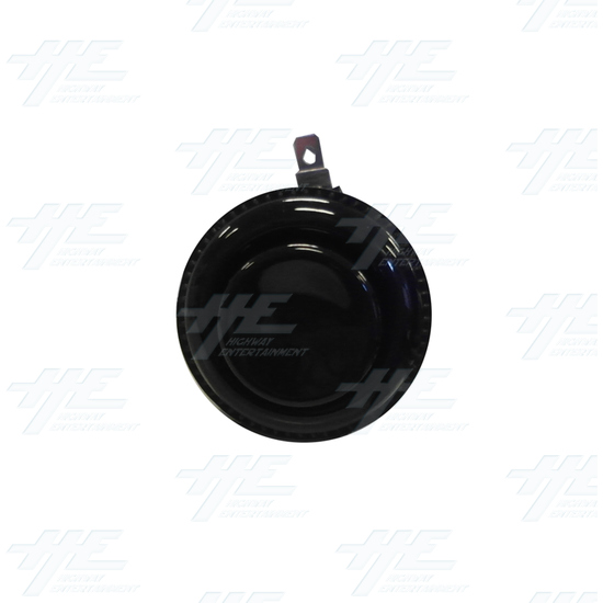 Arcade Push Button with Microswitch - Black - Front View