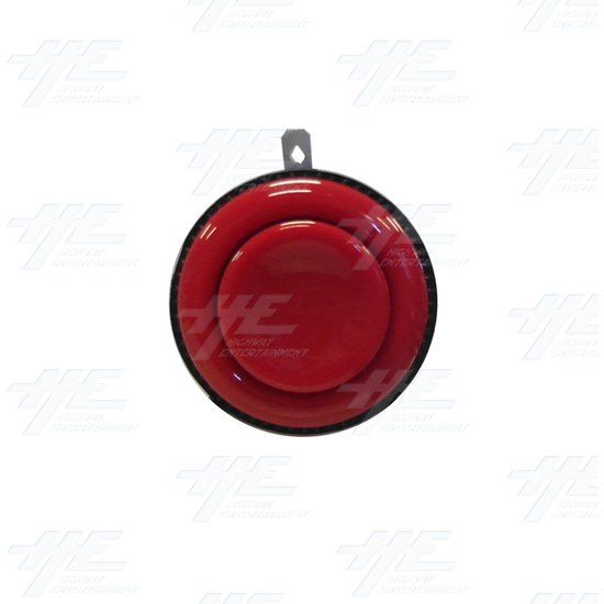 Arcade Push Button with Microswitch - Red - Front View