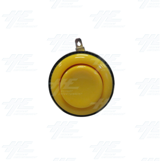 Arcade Push Button with Microswitch - Yellow - Front View