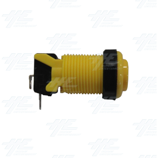 Arcade Push Button with Microswitch - Yellow - Side View With Microswitch
