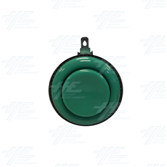 Arcade Push Button with Microswitch - Green - Front View