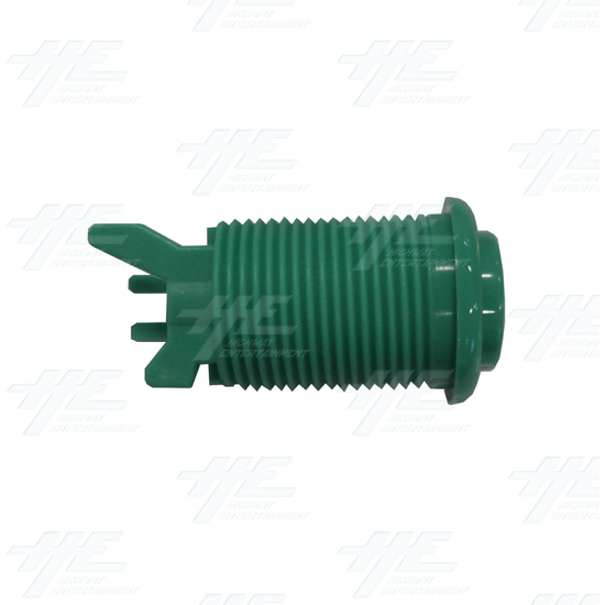Arcade Push Button with Microswitch - Green - Side View